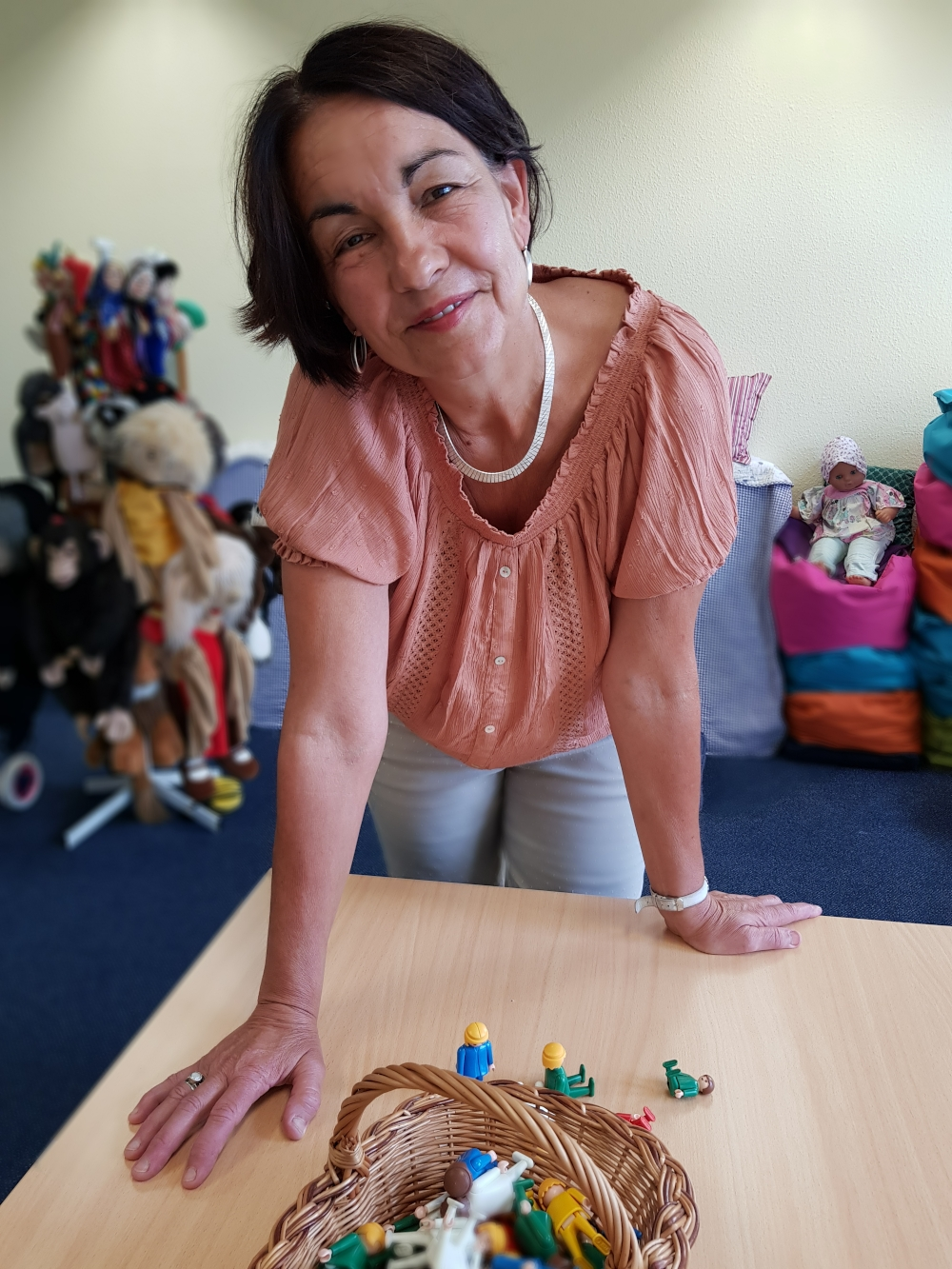 Petra Boschan in der Familienberatungsstelle Lübbenau